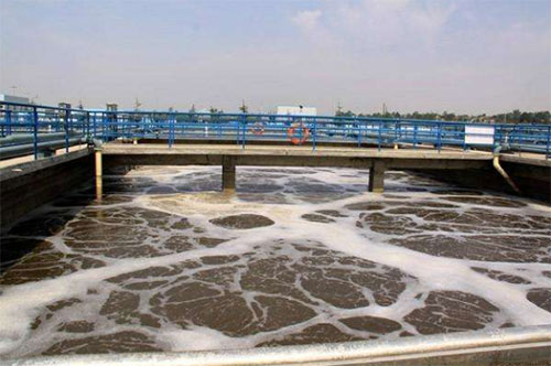 Which defoamer have good results in sewage treatment?